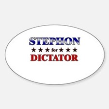 STEPHON for dictator Oval Decal