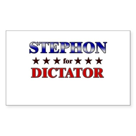 STEPHON for dictator Rectangle Sticker