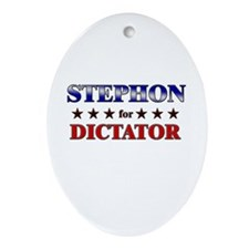 STEPHON for dictator Oval Ornament