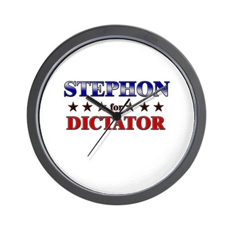 STEPHON for dictator Wall Clock