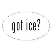 got ice? Oval Bumper Stickers