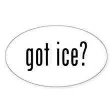 got ice? Oval Decal