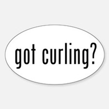 got curling? Oval Decal