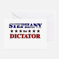 STEPHANY for dictator Greeting Card