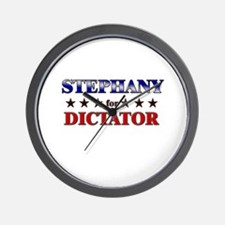 STEPHANY for dictator Wall Clock