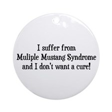 Multiple Mustang Syndrome Ornament (Round)