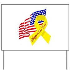 Support Our Troops US Flag Yard Sign