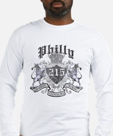 """""""PHILLY 215 LION CREST"""" Long Sleeve T-Shirt"""