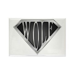 SuperWolf(metal) Rectangle Magnet