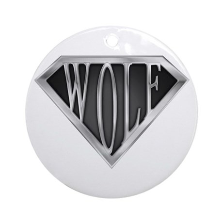 SuperWolf(metal) Ornament (Round)