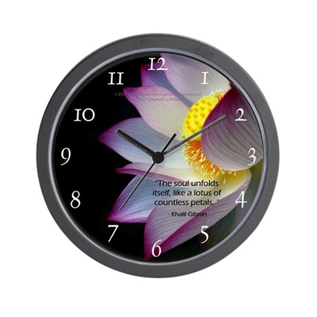 Lotus Wall Clock