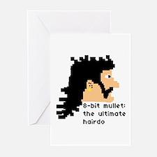 8-bit mullet: ultimate hairdo- Greeting Cards (Pac