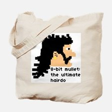 8-bit mullet: ultimate hairdo- Tote Bag