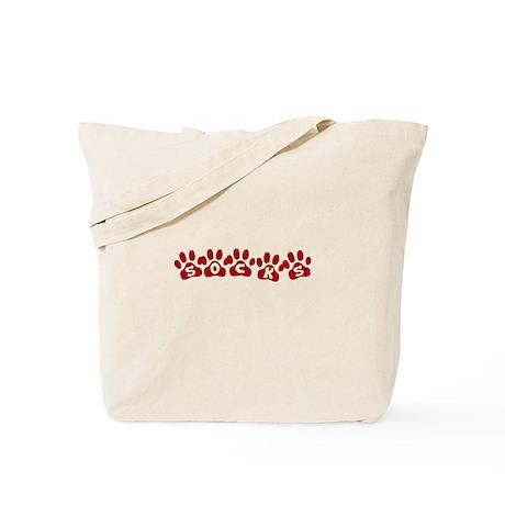 Socks Paw Prints Tote Bag