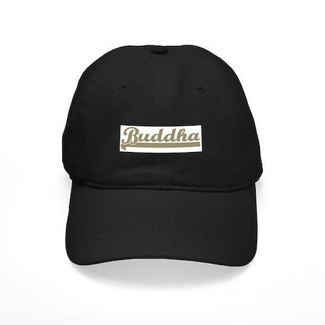 Retro Buddha Black Cap