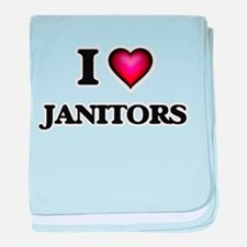I love Janitors baby blanket