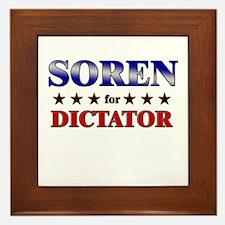 SOREN for dictator Framed Tile