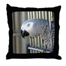 Helaine's African Gray Throw Pillow