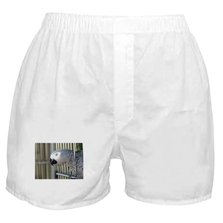 Helaine's African Gray Boxer Shorts