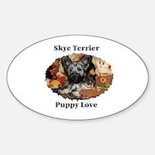 Skye Terrier- Puppy Love Oval Decal