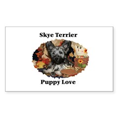Skye Terrier- Puppy Love Rectangle Decal