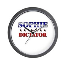 SOPHIE for dictator Wall Clock