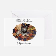 Skye Terrier - Fall In Love Greeting Card