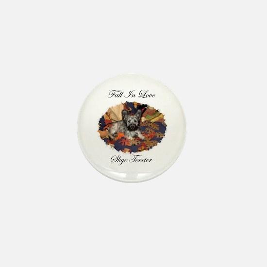 Skye Terrier - Fall In Love Mini Button