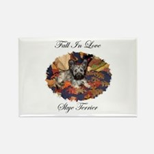 Skye Terrier - Fall In Love Rectangle Magnet