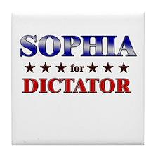 SOPHIA for dictator Tile Coaster