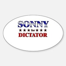SONNY for dictator Oval Decal
