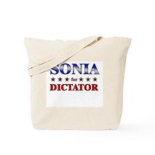 SONIA for dictator Tote Bag