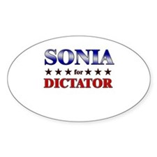 SONIA for dictator Oval Decal