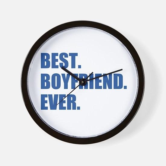 Dark Blue Best Boyfriend Ever Wall Clock