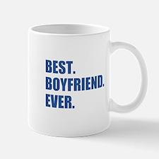 Dark Blue Best Boyfriend Ever Mugs