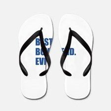 Dark Blue Best Boyfriend Ever Flip Flops