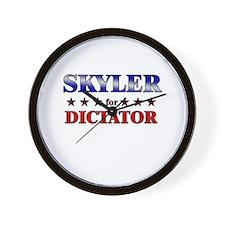 SKYLER for dictator Wall Clock