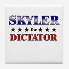 SKYLER for dictator Tile Coaster