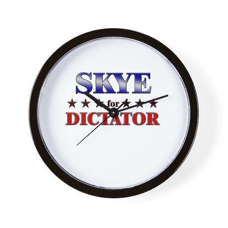SKYE for dictator Wall Clock