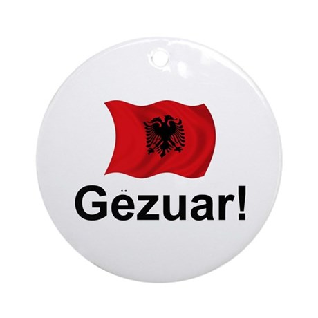 Albanian Gezuar (Cheers!) Ornament (Round)