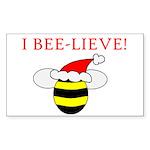 I BEE-LIEVE Rectangle Sticker