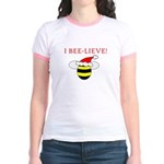 I BEE-LIEVE Jr. Ringer T-Shirt