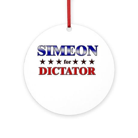 SIMEON for dictator Ornament (Round)