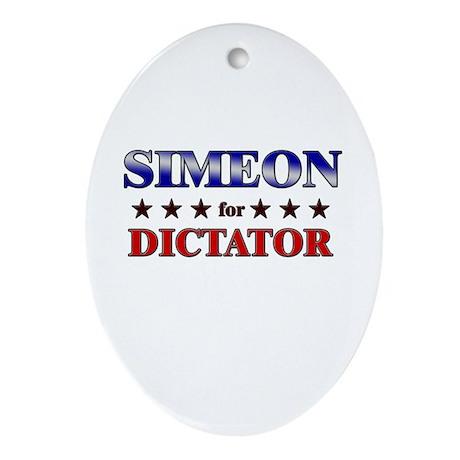 SIMEON for dictator Oval Ornament