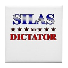 SILAS for dictator Tile Coaster