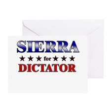 SIERRA for dictator Greeting Card