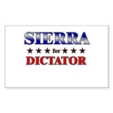 SIERRA for dictator Rectangle Decal