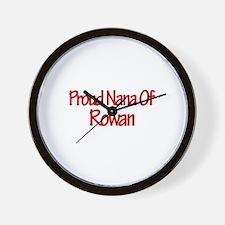 Proud Nana of Rowan Wall Clock