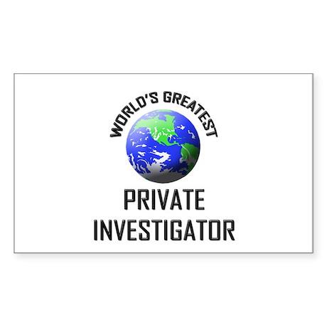 World's Greatest PRIVATE INVESTIGATOR Sticker (Rec