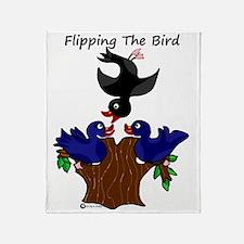 Cute Bird flipping Throw Blanket
